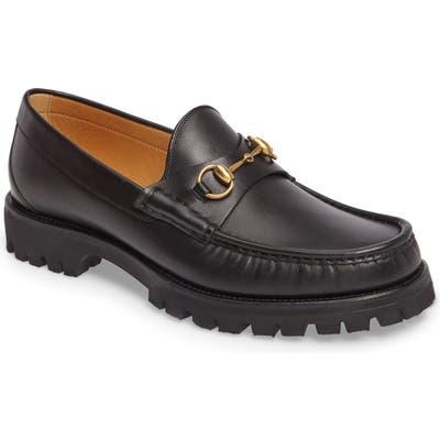Gucci Alfons Lug Bit Loafer, Black