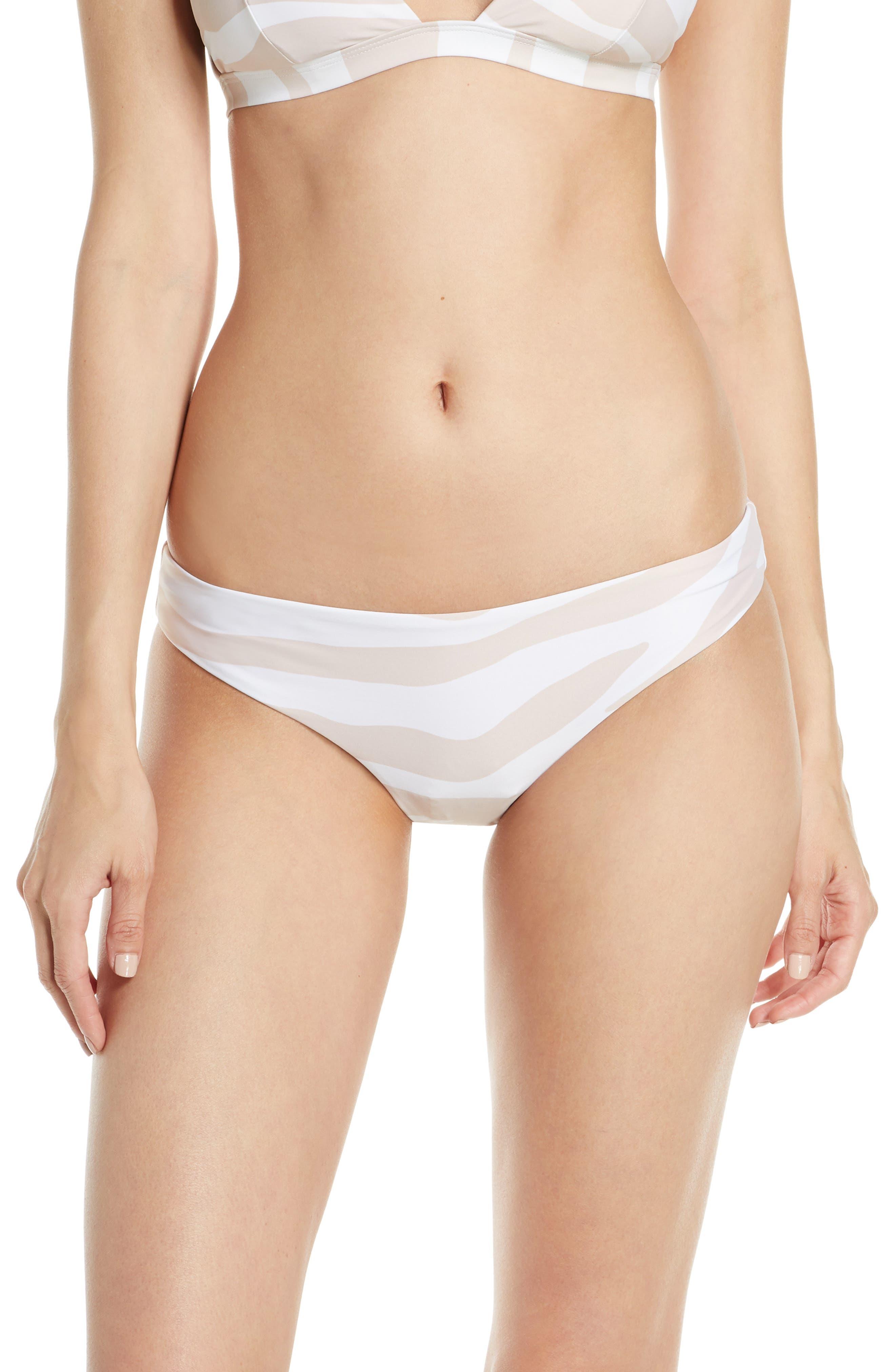 Onia Lily Textured Bikini Bottoms, White