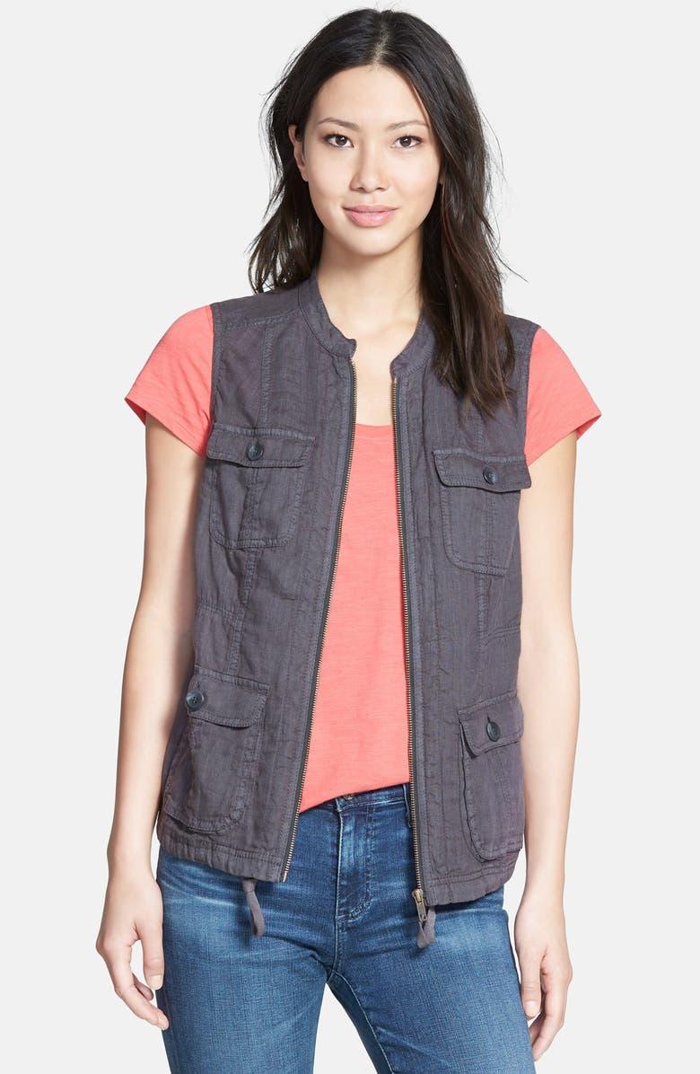CASLON<SUP>®</SUP> Linen Utility Vest, Main, color, 030
