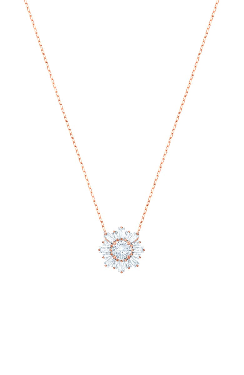 SWAROVSKI Sunshine Pendant Necklace, Main, color, 710
