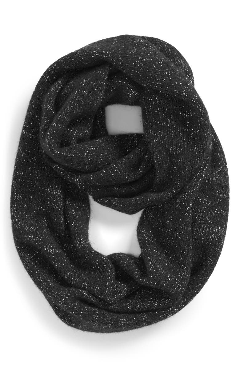 HALOGEN<SUP>®</SUP> Halogen 'Touch of Sparkle' Cashmere Infinity Scarf, Main, color, 001