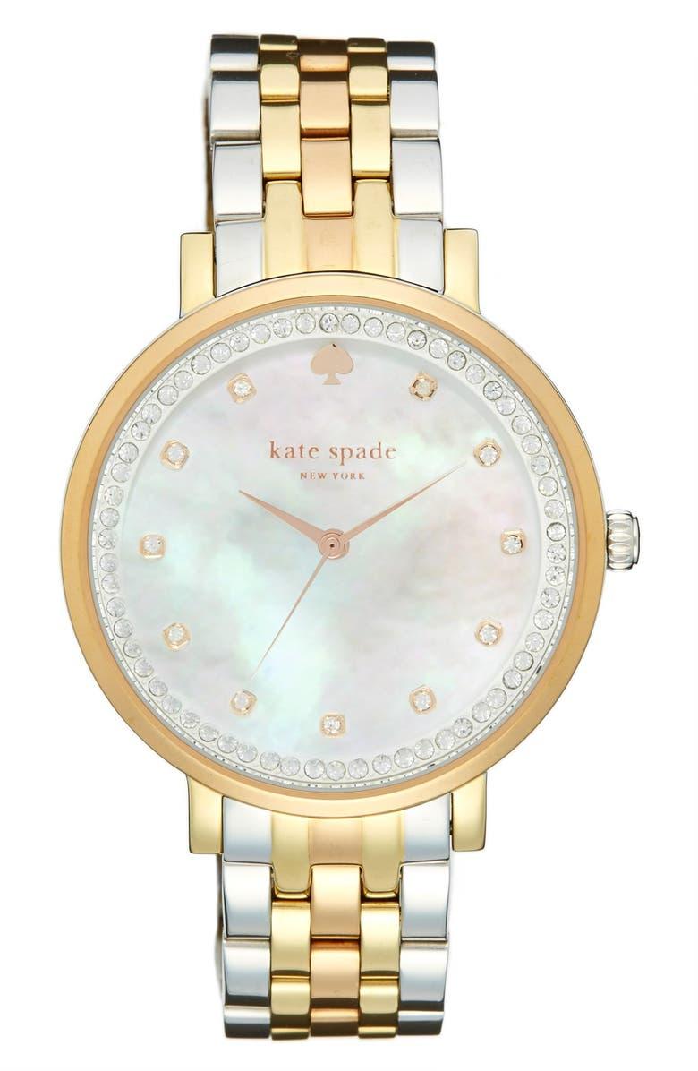 KATE SPADE NEW YORK 'monterrey' bracelet watch, 38mm, Main, color, 710