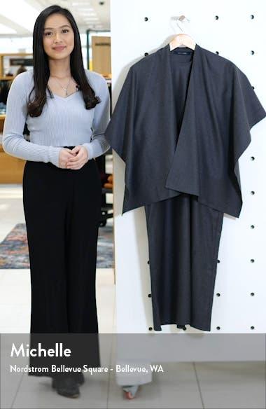 Wool Flannel Midi Cape Dress, sales video thumbnail