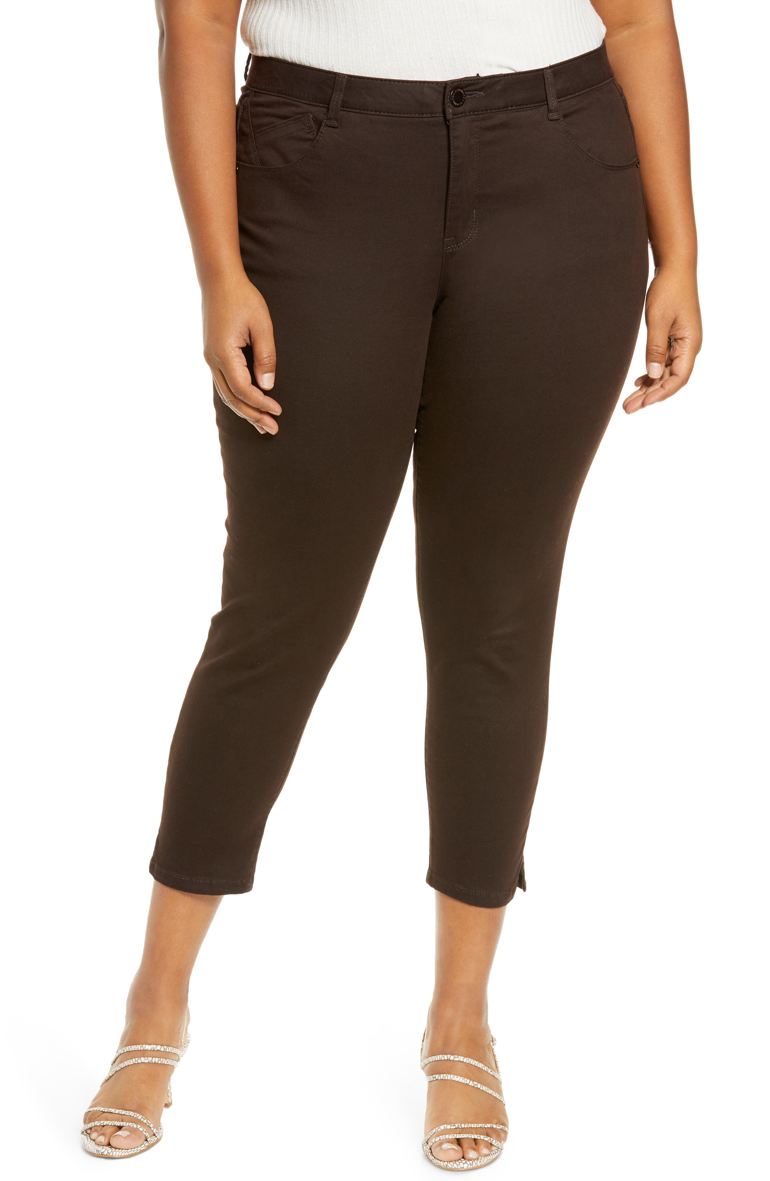 Stretchy, ankle-grazing skinny pants are designed for a slimming fit with Ab-solution technology to shape, smooth and lift in all the right places. Style Name: Wit & Wisdom Ab-Solution High Waist Ankle Skinny Pants (Plus Size) (Nordstrom Exclusive). Style Number: 5785708. Available in stores.
