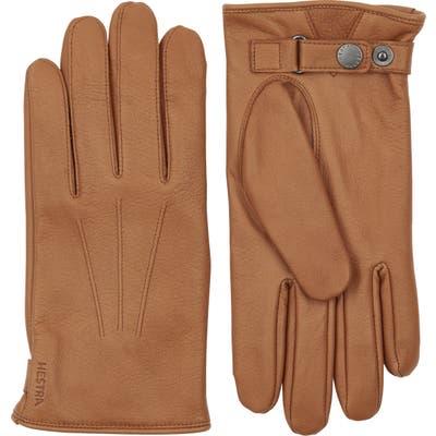 Hestra Eldner Elk Leather Gloves, Brown