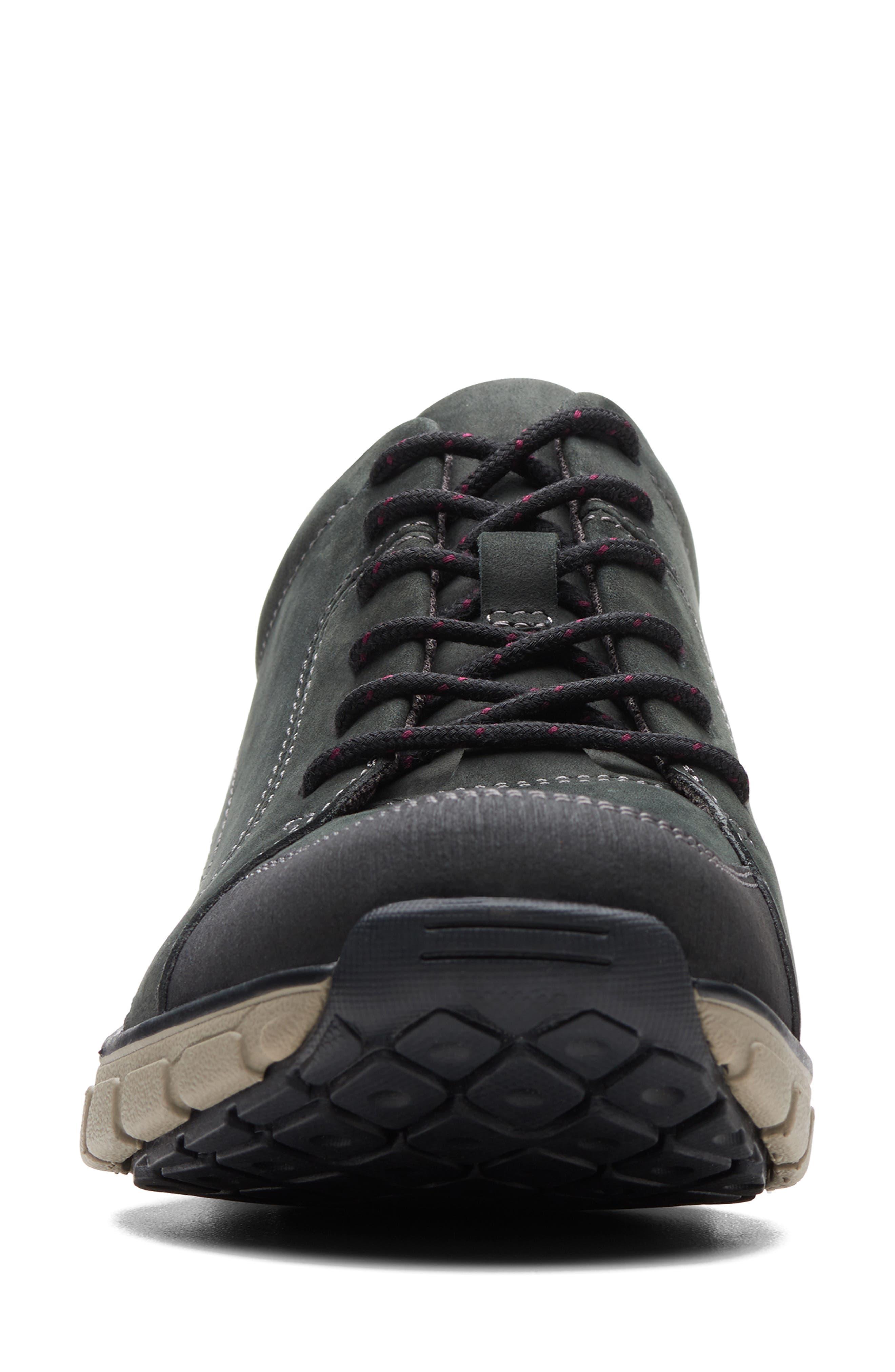 ,                             Wave Go Waterproof Sneaker,                             Alternate thumbnail 3, color,                             BLACK NUBUCK/ LEATHER COMBI