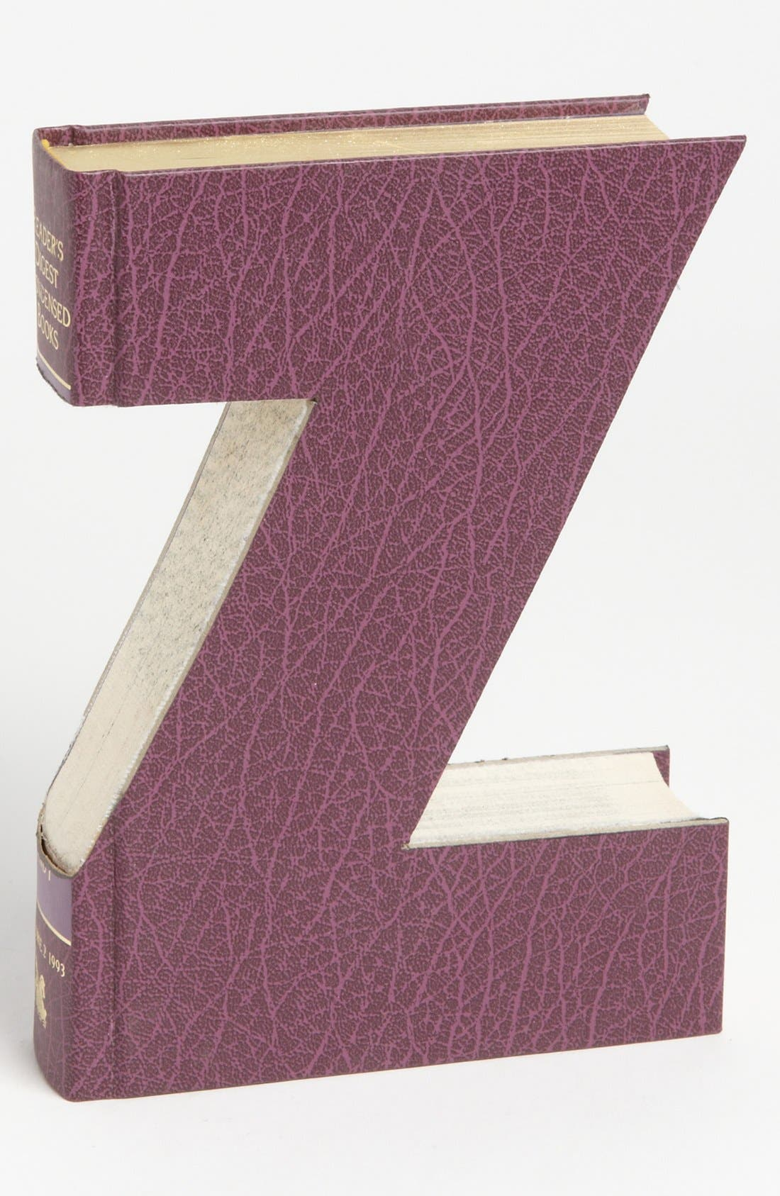 ,                             'One of a Kind Letter' Hand-Carved Recycled Book Shelf Art,                             Main thumbnail 111, color,                             232