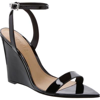 Schutz Wedge Sandal- Black
