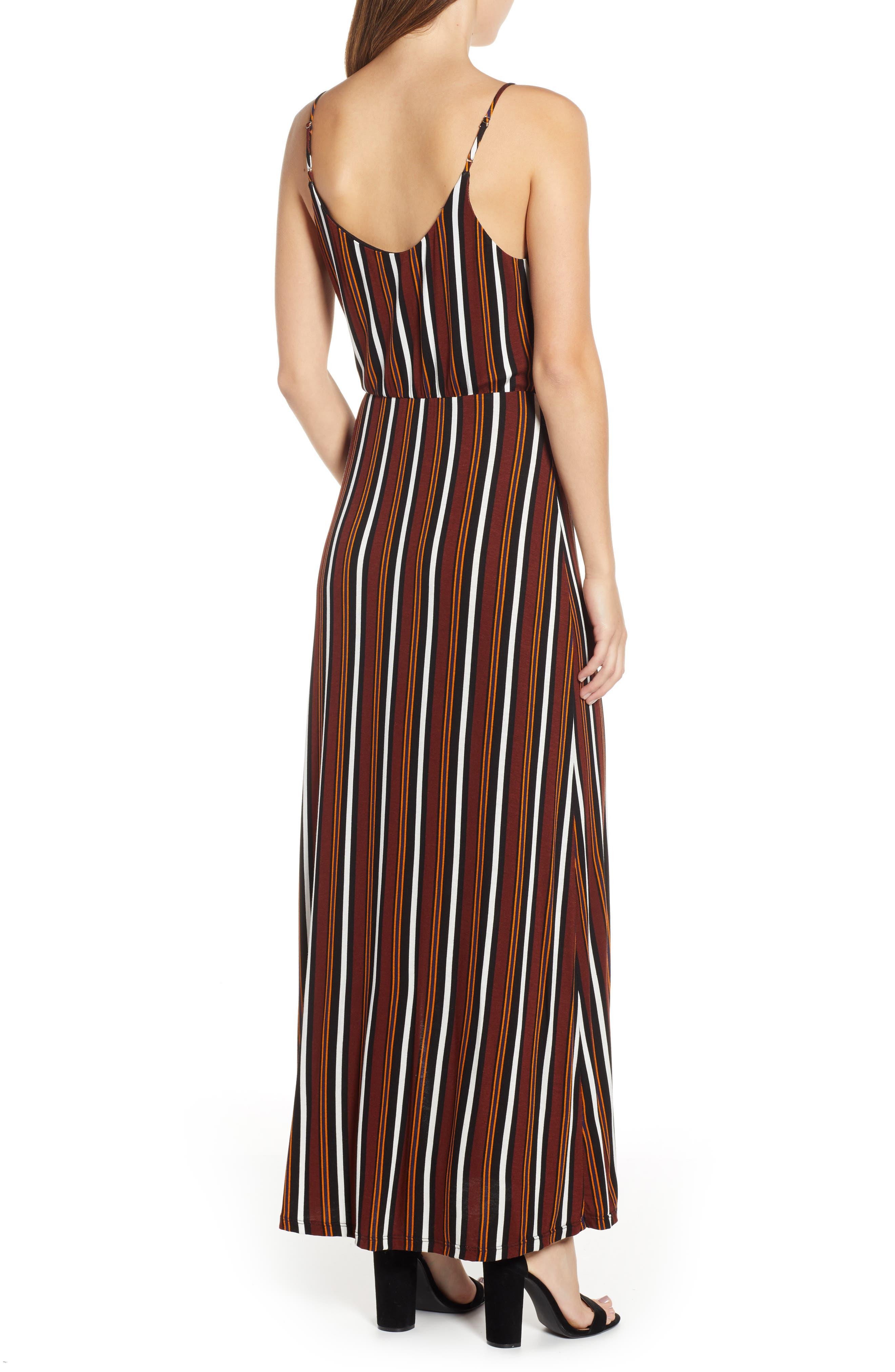 ,                             Surplice Neck Knit Maxi Dress,                             Alternate thumbnail 9, color,                             200
