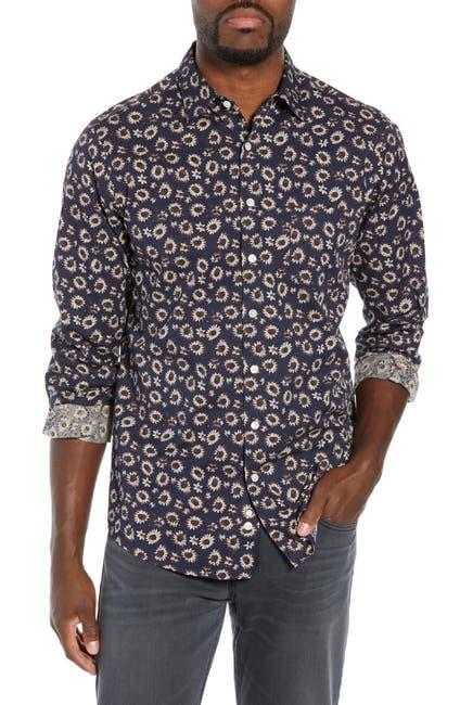 Image of RODD AND GUNN Ellerby Regular Fit Sunflower Print Sport Shirt