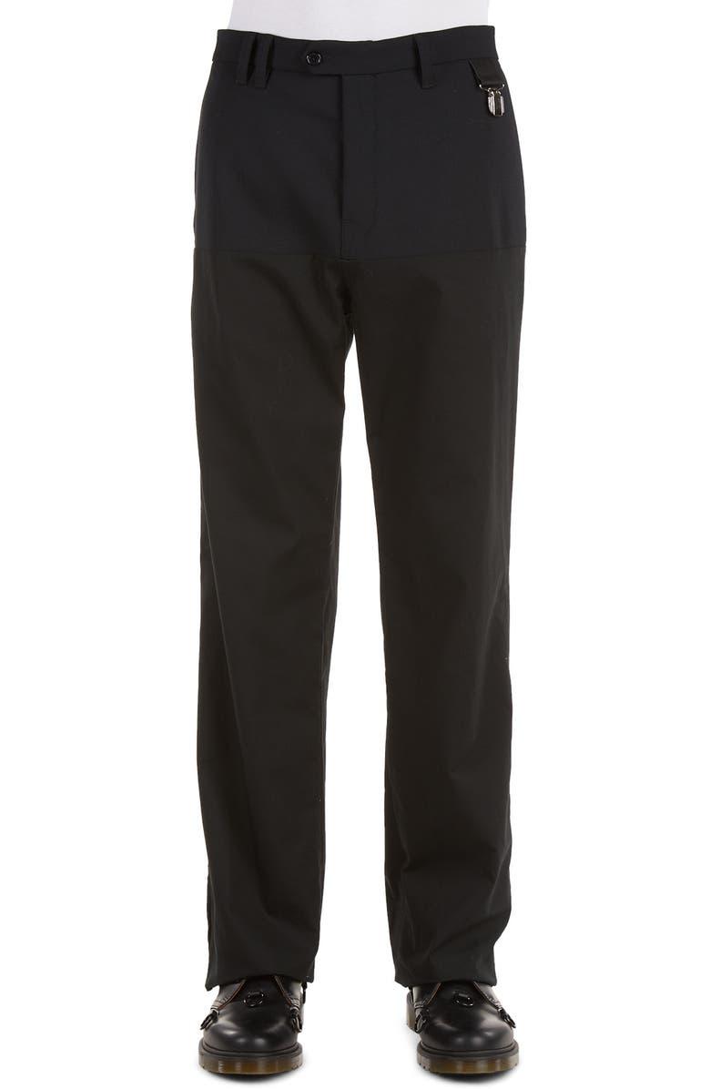 RAF SIMONS Horizontal Panel Wool Blend Pants, Main, color, 001