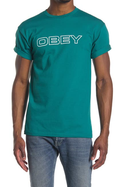 Image of Obey Logo Graphic Crew Neck T-Shirt
