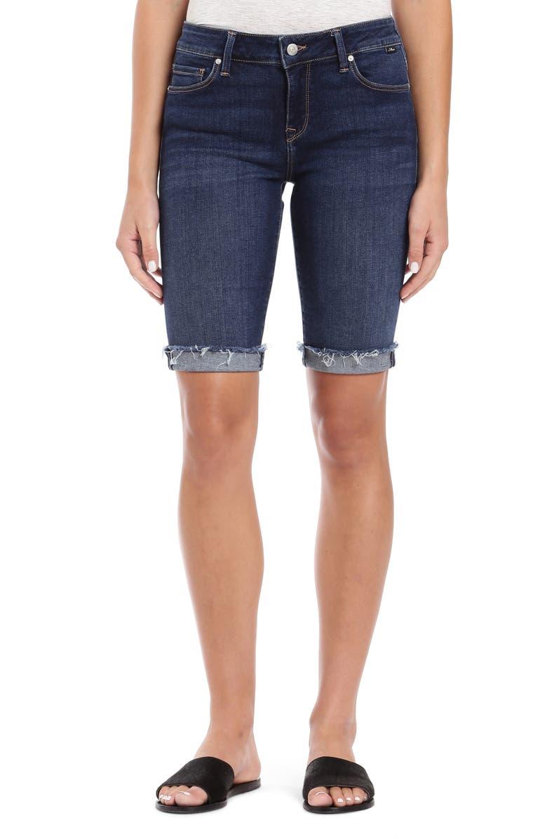 MAVI JEANS Karly Cutoff Denim Bermuda Shorts, Main, color, 401