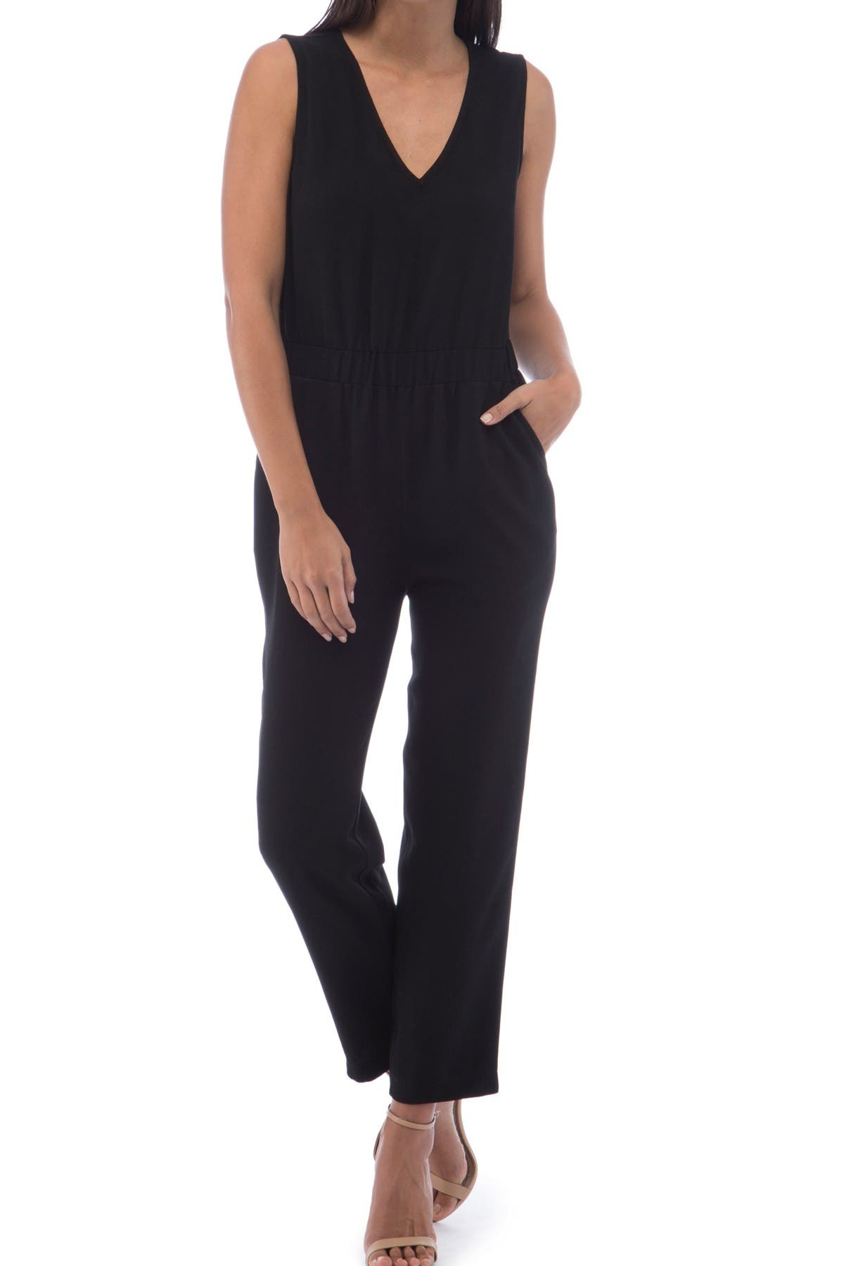 Image of B Collection by Bobeau Brook Side Stripe Jumpsuit