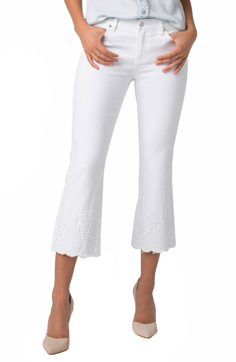 LIVERPOOL Lucy Crop Flare Jeans, Main, color, 105