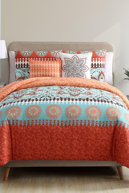 Image of VCNY HOME Ezra Reversible Medallion Comforter Set - King