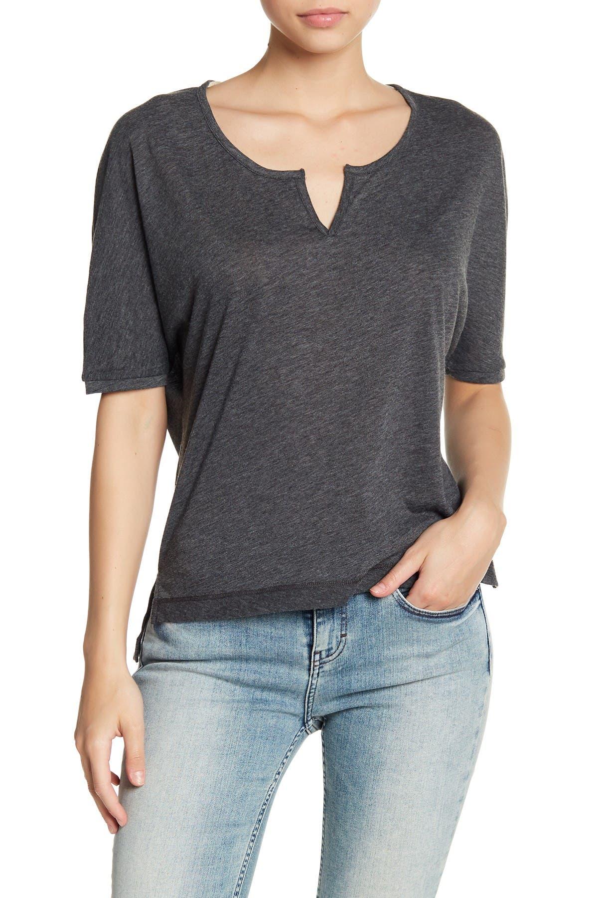 Image of Alternative Split Collar Knit T-Shirt