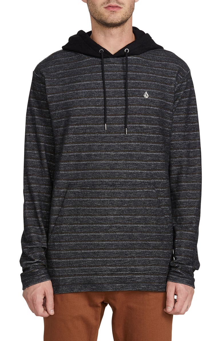 VOLCOM Chiller Pullover Hoodie, Main, color, BLACK