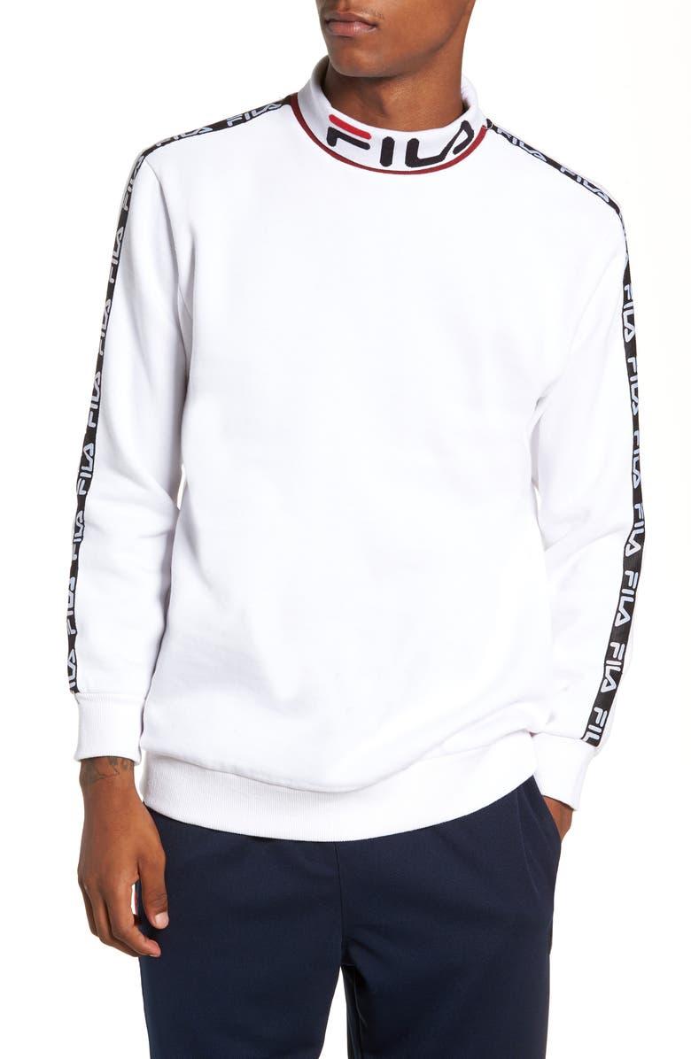 FILA Drey Mock Neck Sweatshirt, Main, color, 100