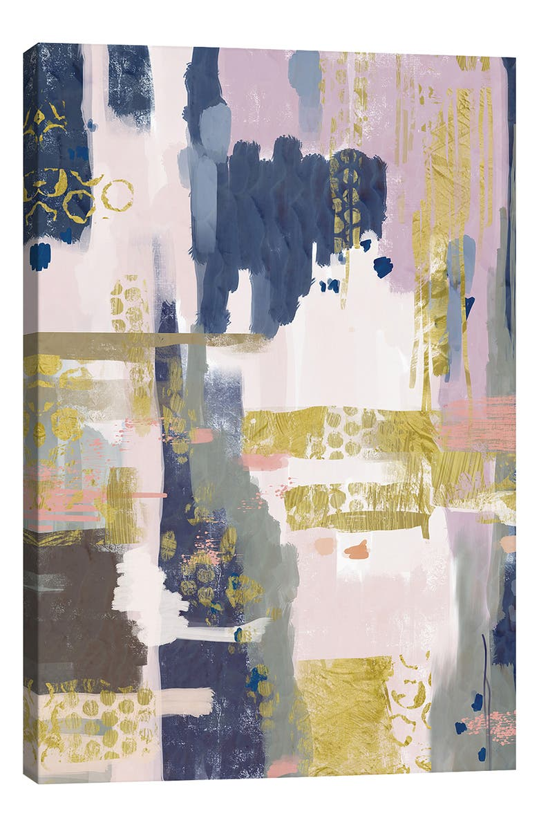 ICANVAS Gold Stone III by Mia Charro Giclée Print Canvas Art, Main, color, PINK
