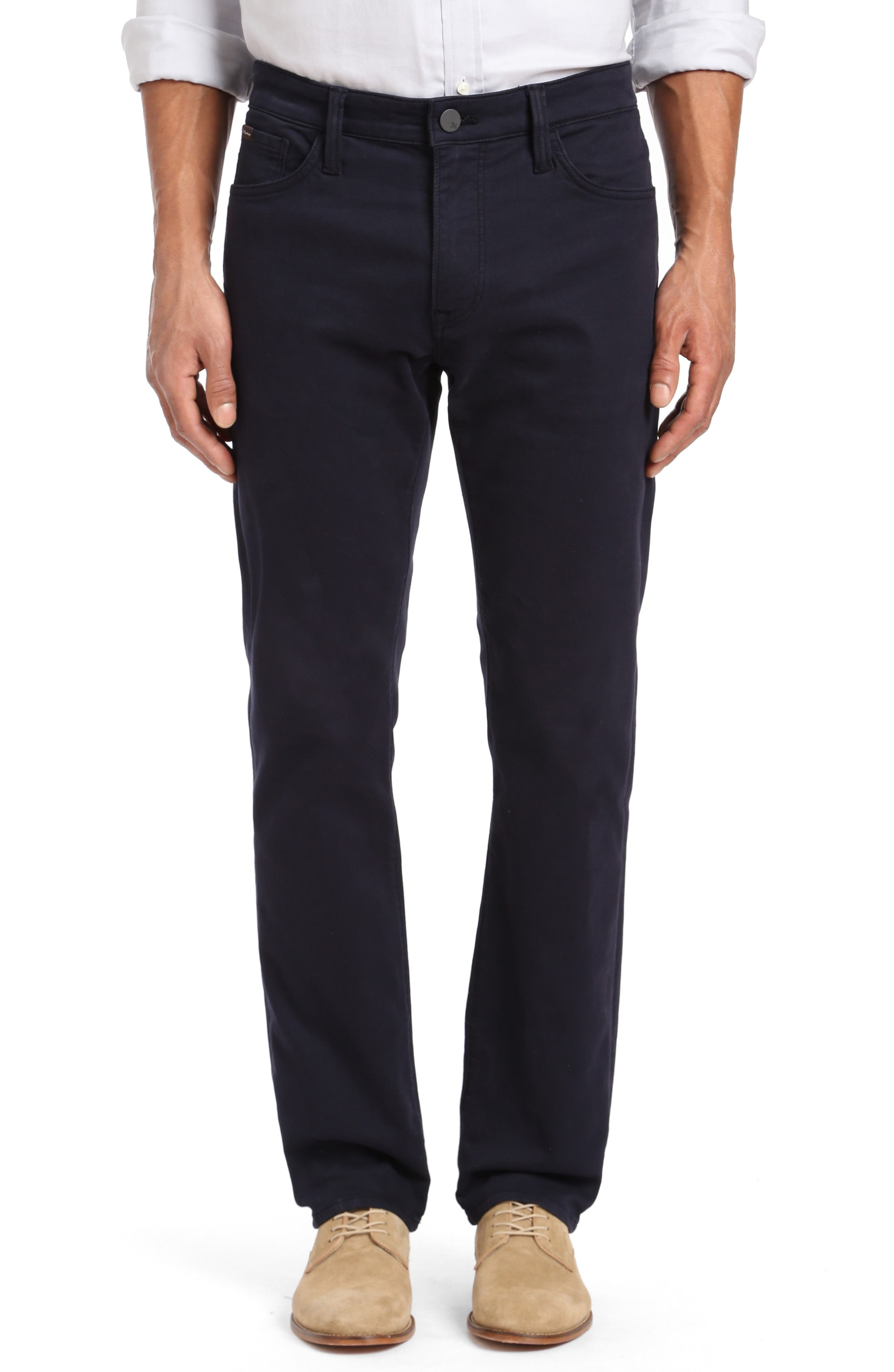 Courage Straight Leg Jeans, Main, color, NAVY WASHED LUXE