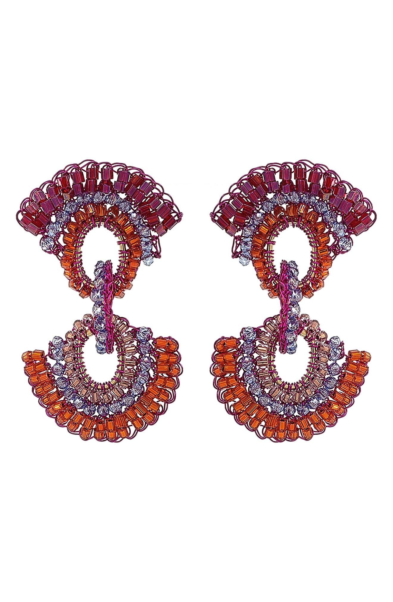 Women's Lavish Beaded Drop Earrings