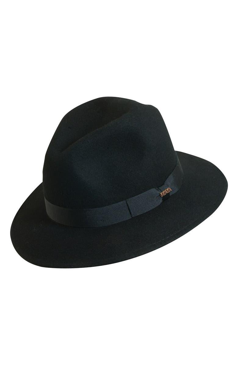 SCALA 'Classico' Crushable Felt Safari Hat, Main, color, 001