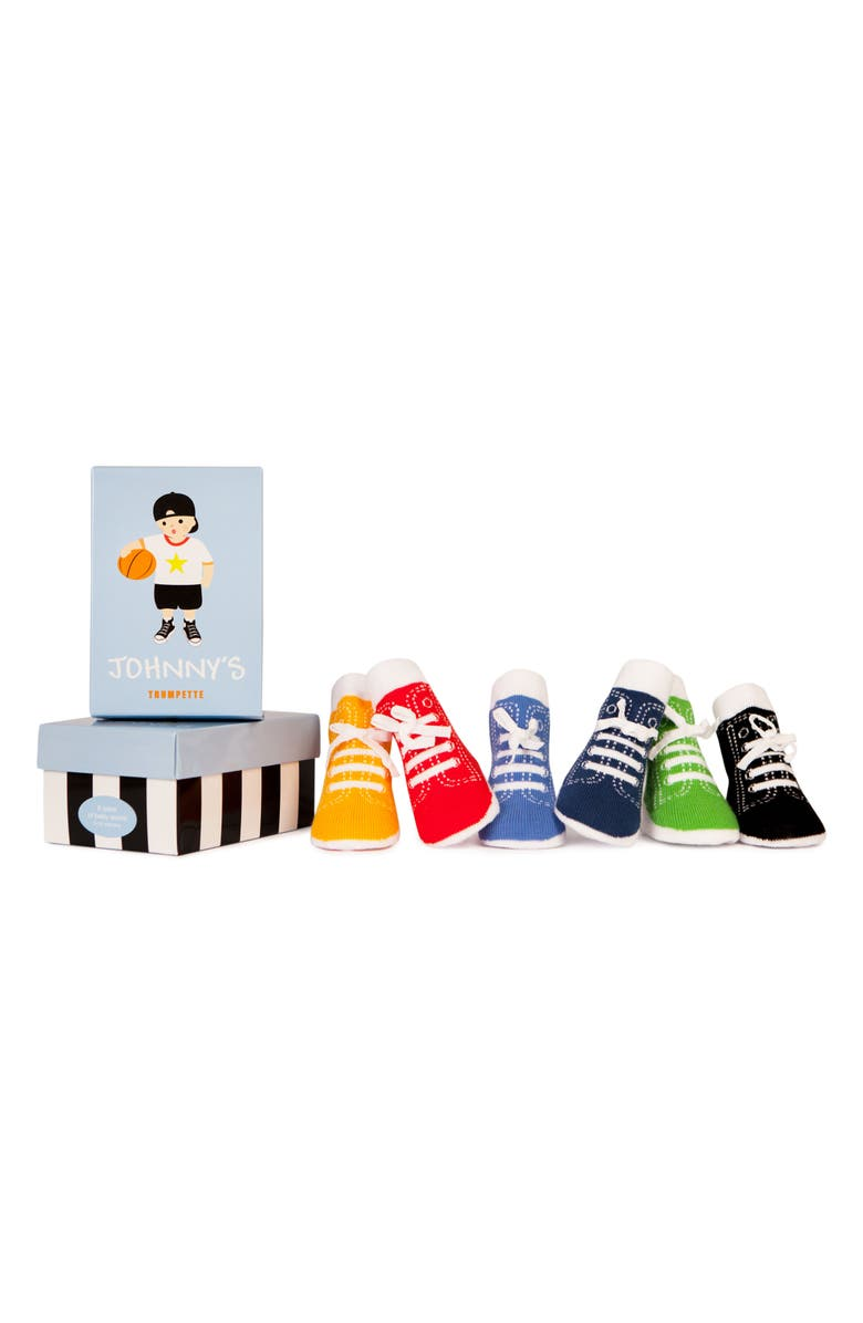 TRUMPETTE Johnny's Assorted 6-Pack Socks, Main, color, JOHNNY'S ASSORTED