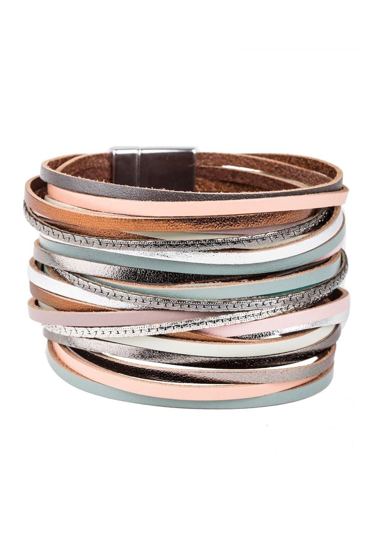 Image of Saachi On The Line Leather Bracelet