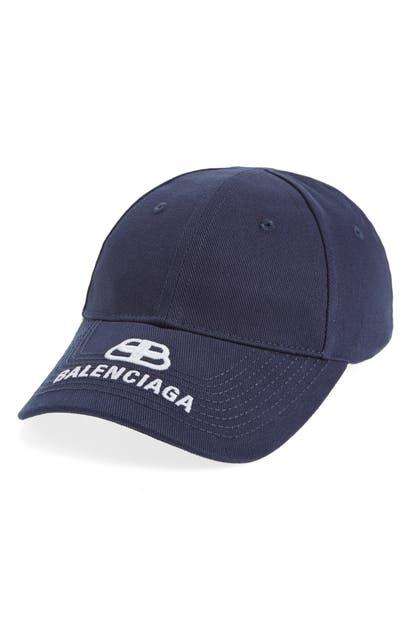 BALENCIAGA LOGO BASEBALL CAP - BLUE