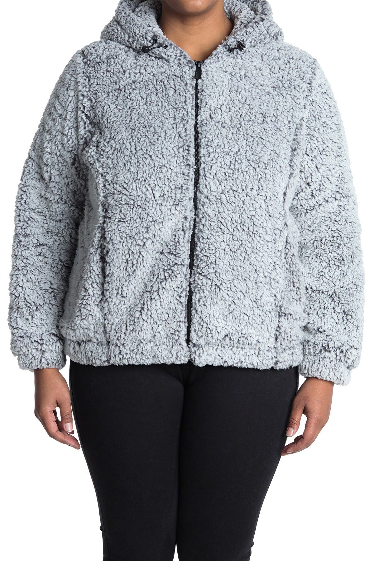 MARC NEW YORK PERFORMANCE Zip Front Faux Shearling