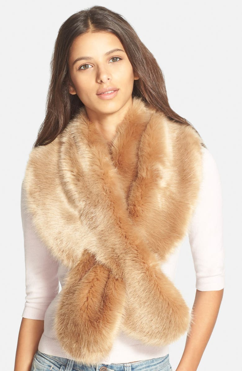 BP. Faux Fur Stole, Main, color, 235