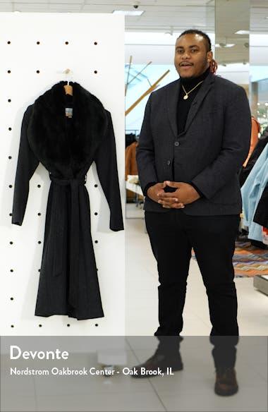 Faux Fur Trim Wrap Coat, sales video thumbnail
