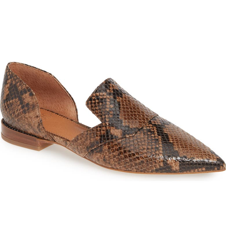 SARTO BY FRANCO SARTO Toby Flat, Main, color, TAUPE SNAKE PRINT LEATHER