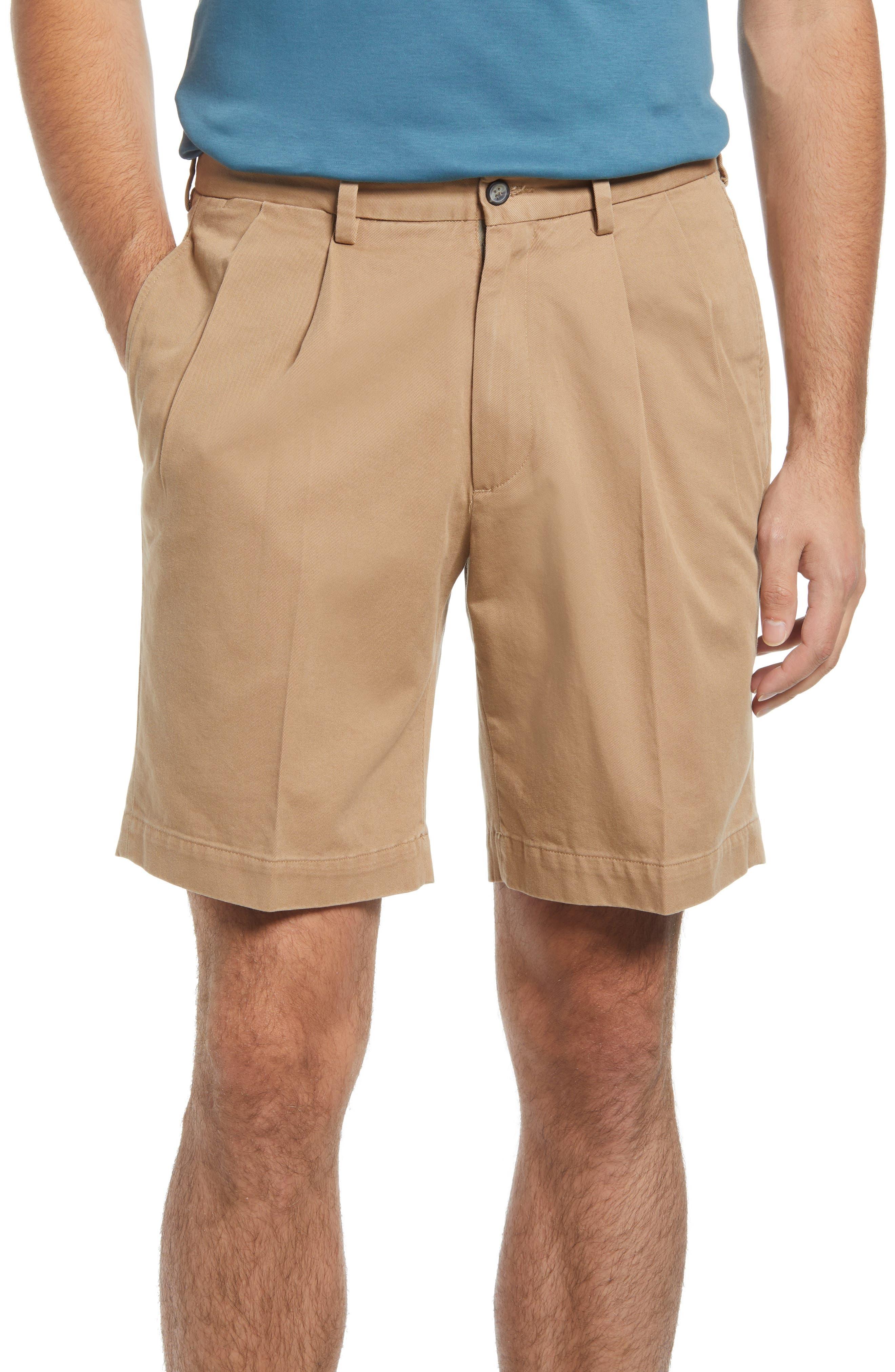Charleston Pleated Chino Shorts