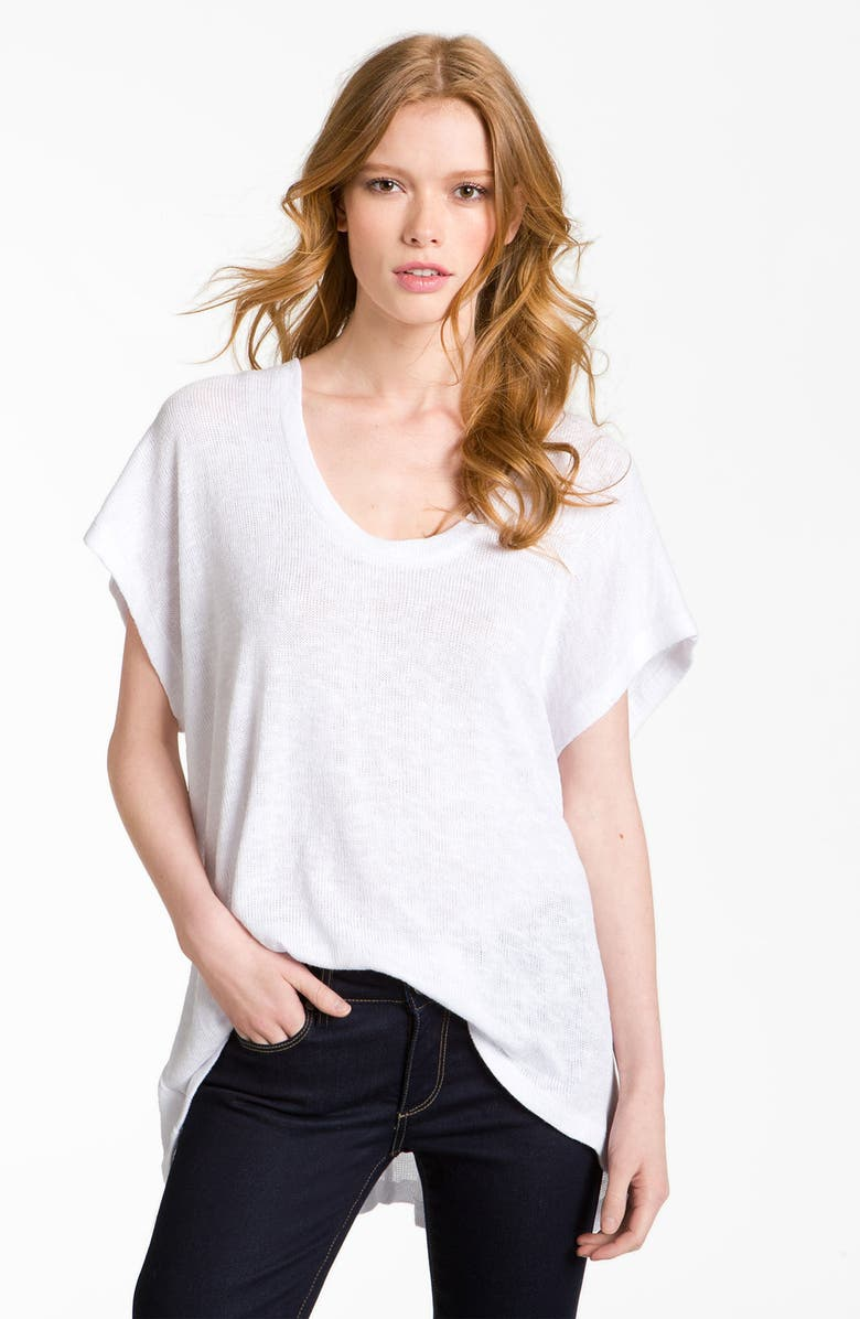 GIBSON Oversized Sweater Knit Tee, Main, color, 100