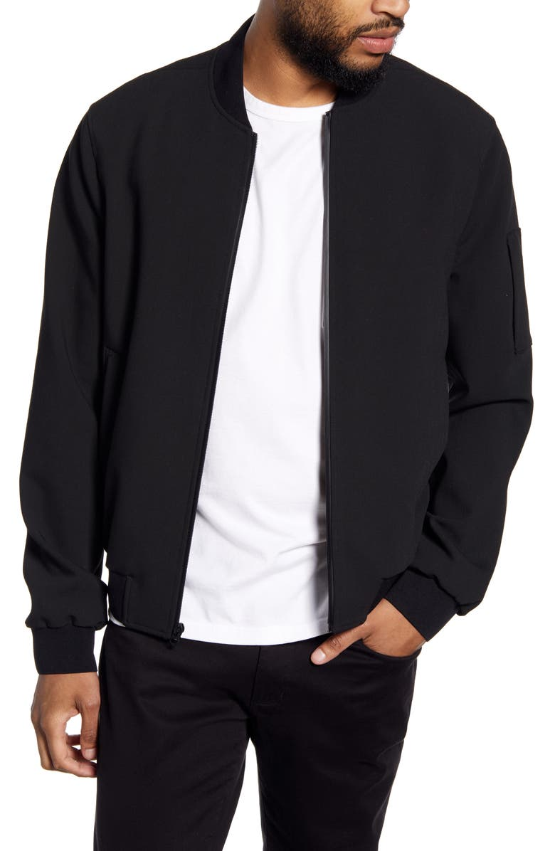 4e78eda6f Vince Regular Fit Knit Bomber Jacket | Nordstrom