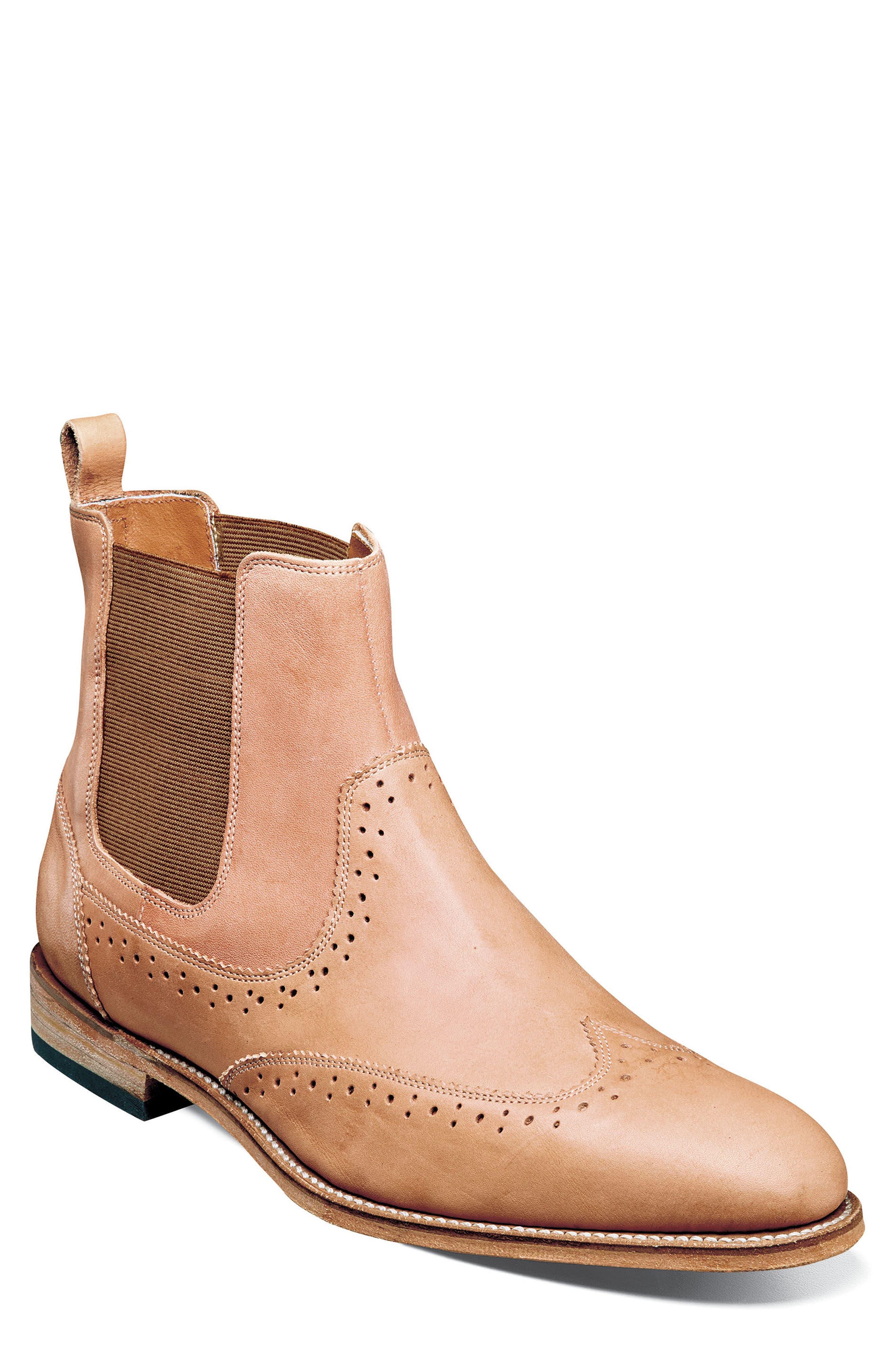 Stacy Adams M2 Wingtip Chelsea Boot - Brown