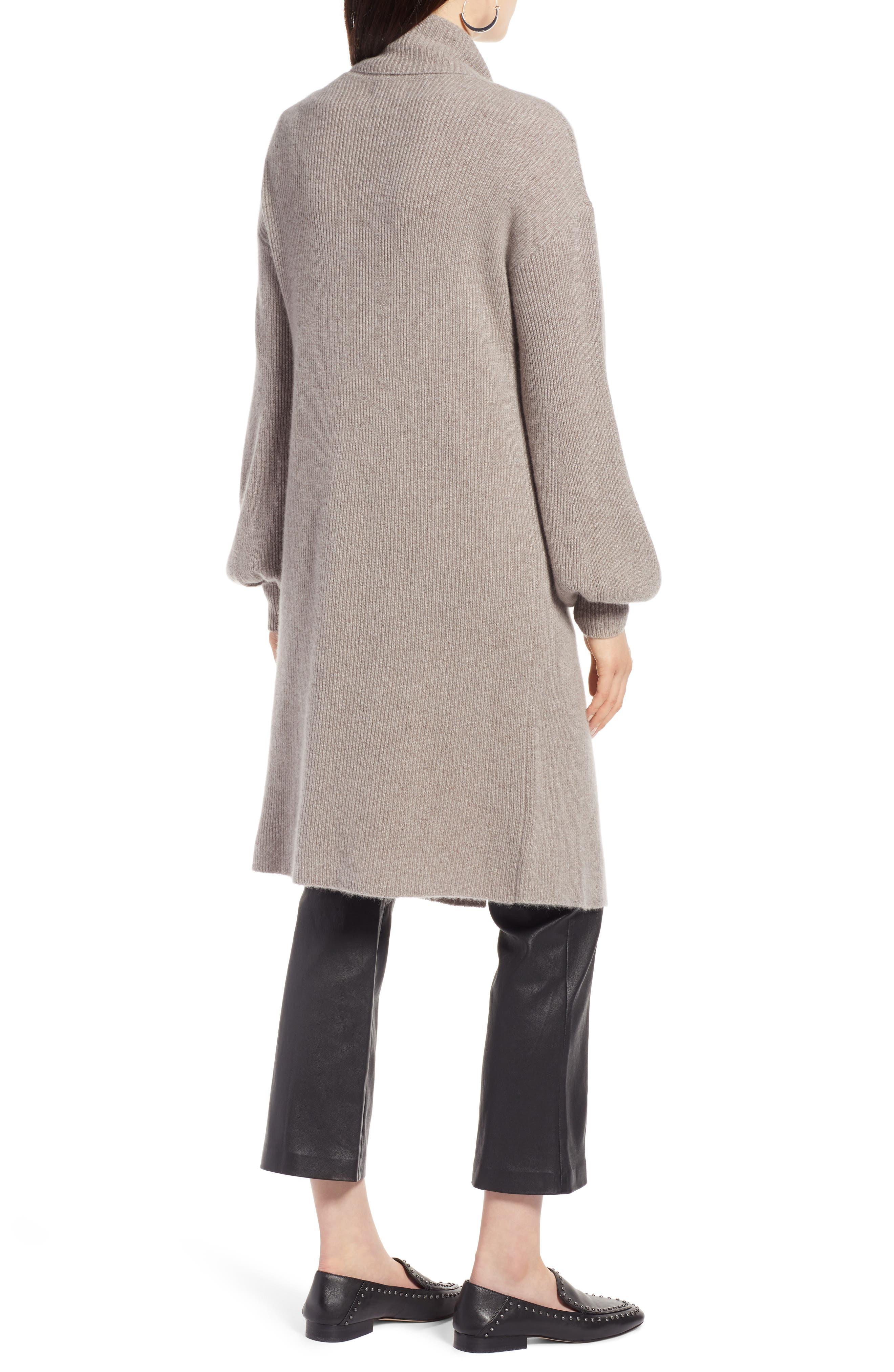 ,                             Blouson Sleeve Long Cashmere Cardigan,                             Alternate thumbnail 18, color,                             236