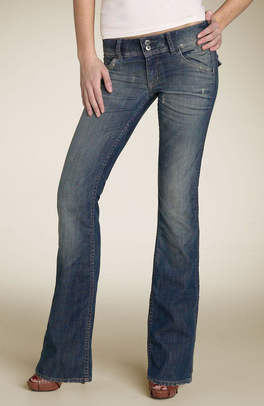 ,                             Signature Flap Pocket Bootcut Jeans,                             Main thumbnail 50, color,                             454