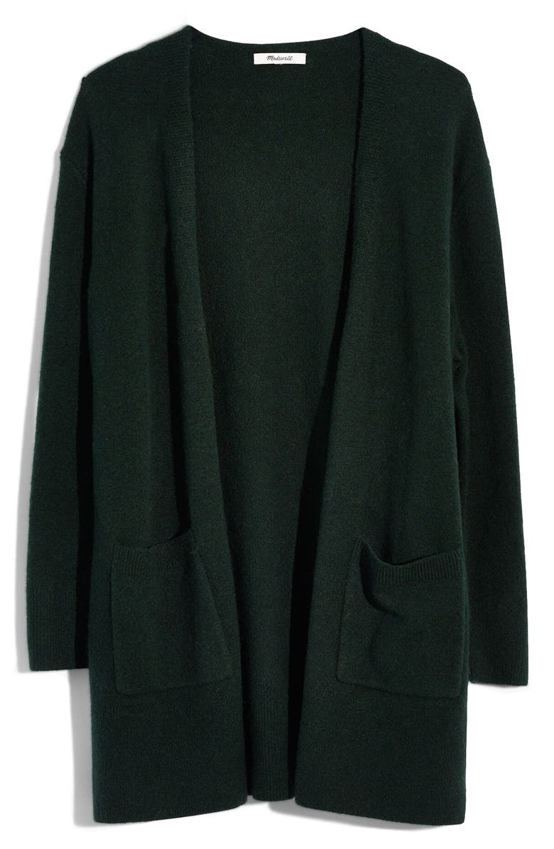 MADEWELL Kent Cardigan Sweater, Main, color, HEATHER FOREST