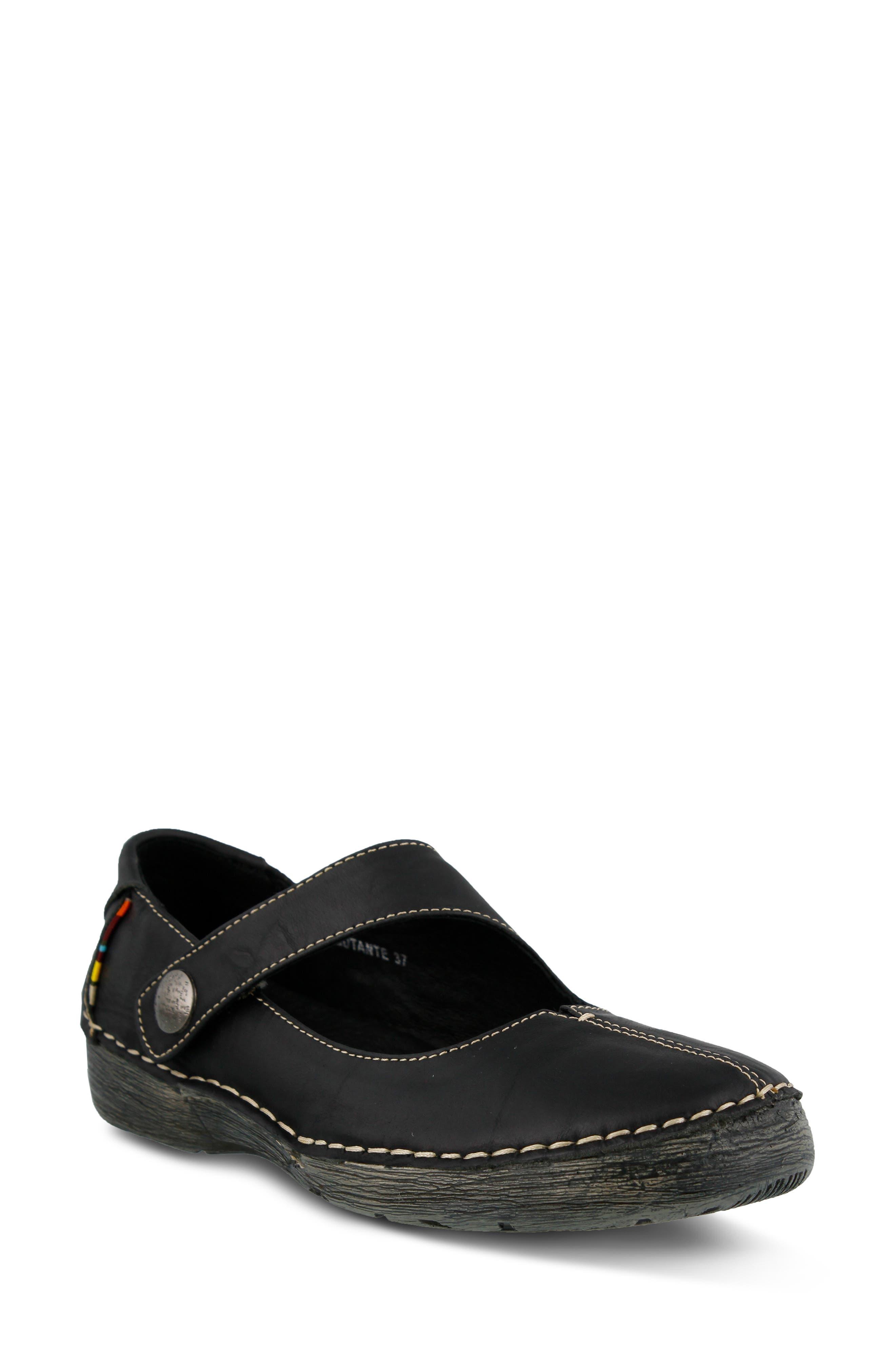 Spring Step Debutante Flat - Black