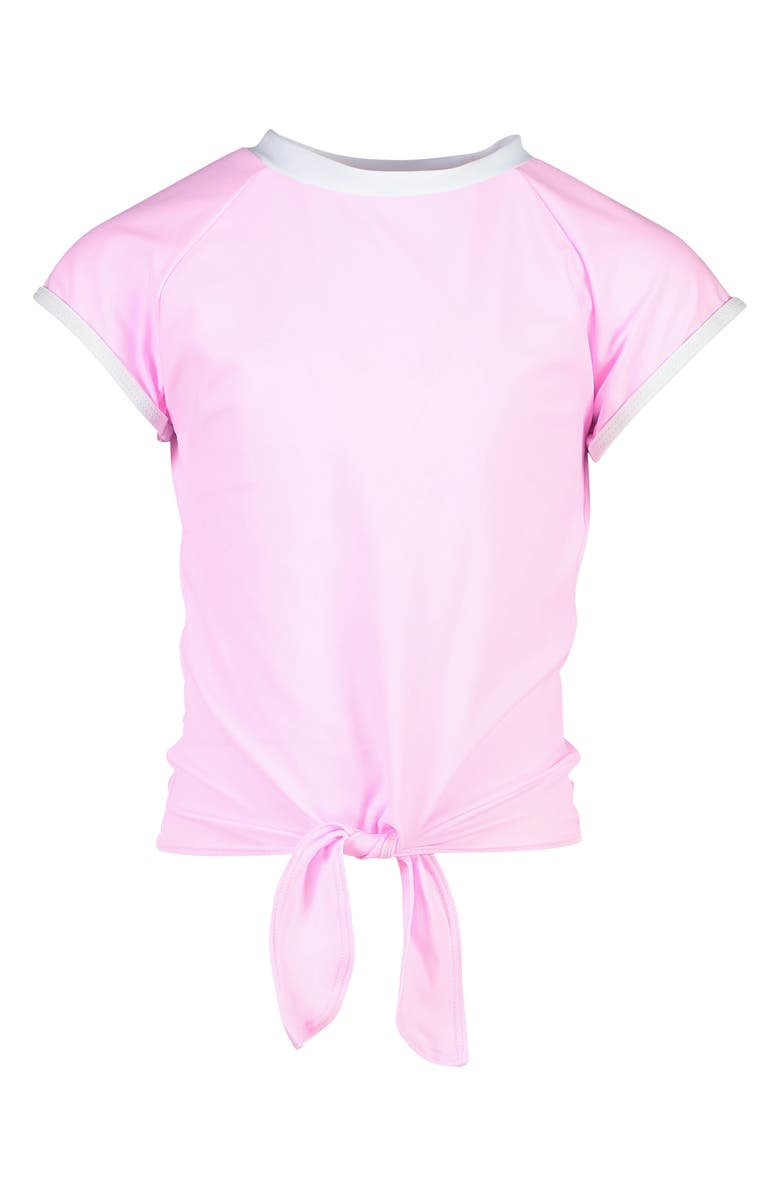 SNAPPER ROCK Pink Tie Front Rashguard, Main, color, PINK