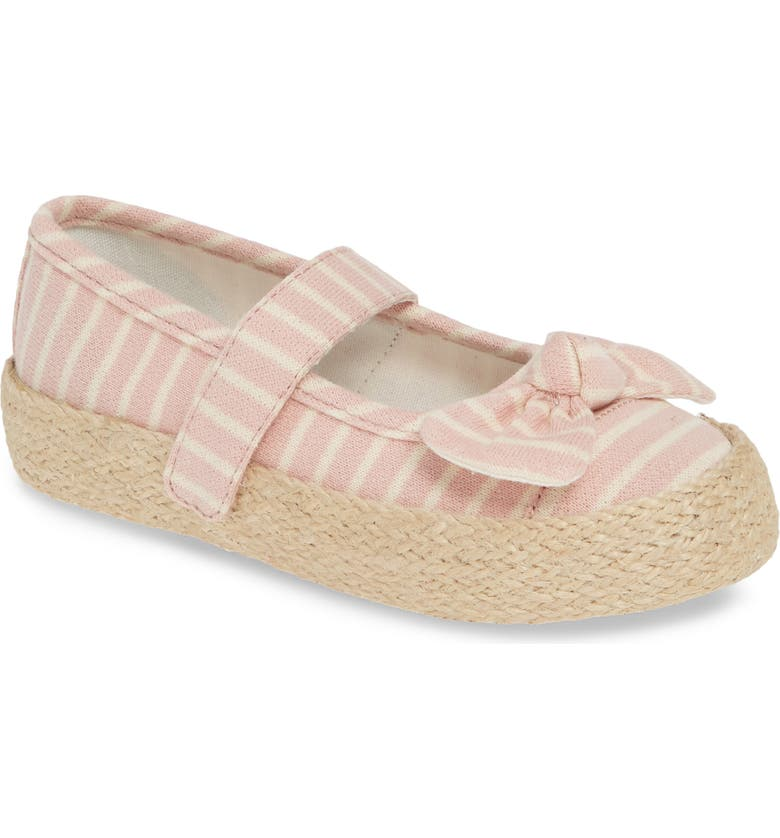 SOMETHING NAVY Mary Jane Espadrille Sandal, Main, color, PINK/WHITE STRIPE FABRIC