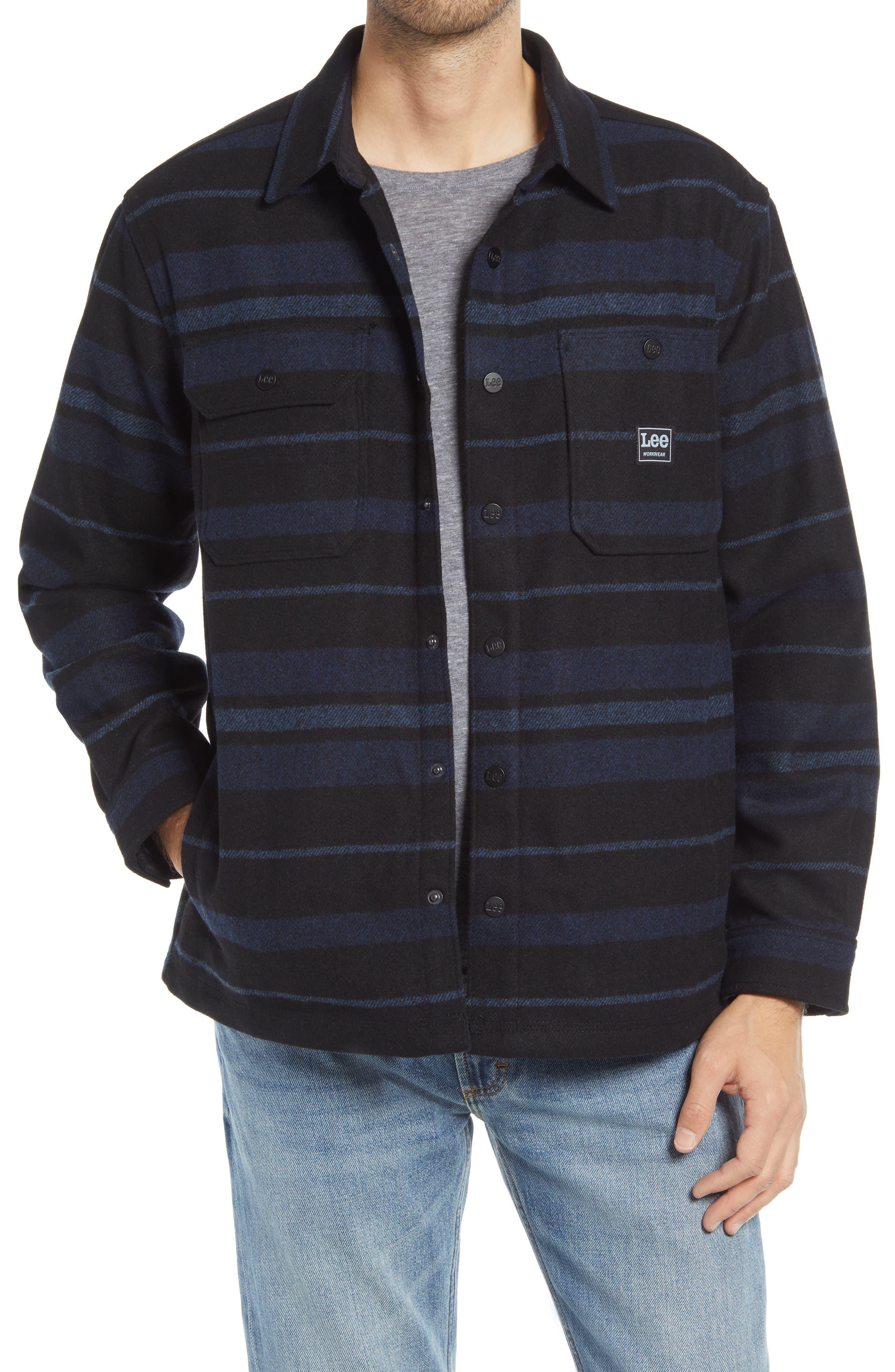 Plaid Button-Up Shirt Jacket