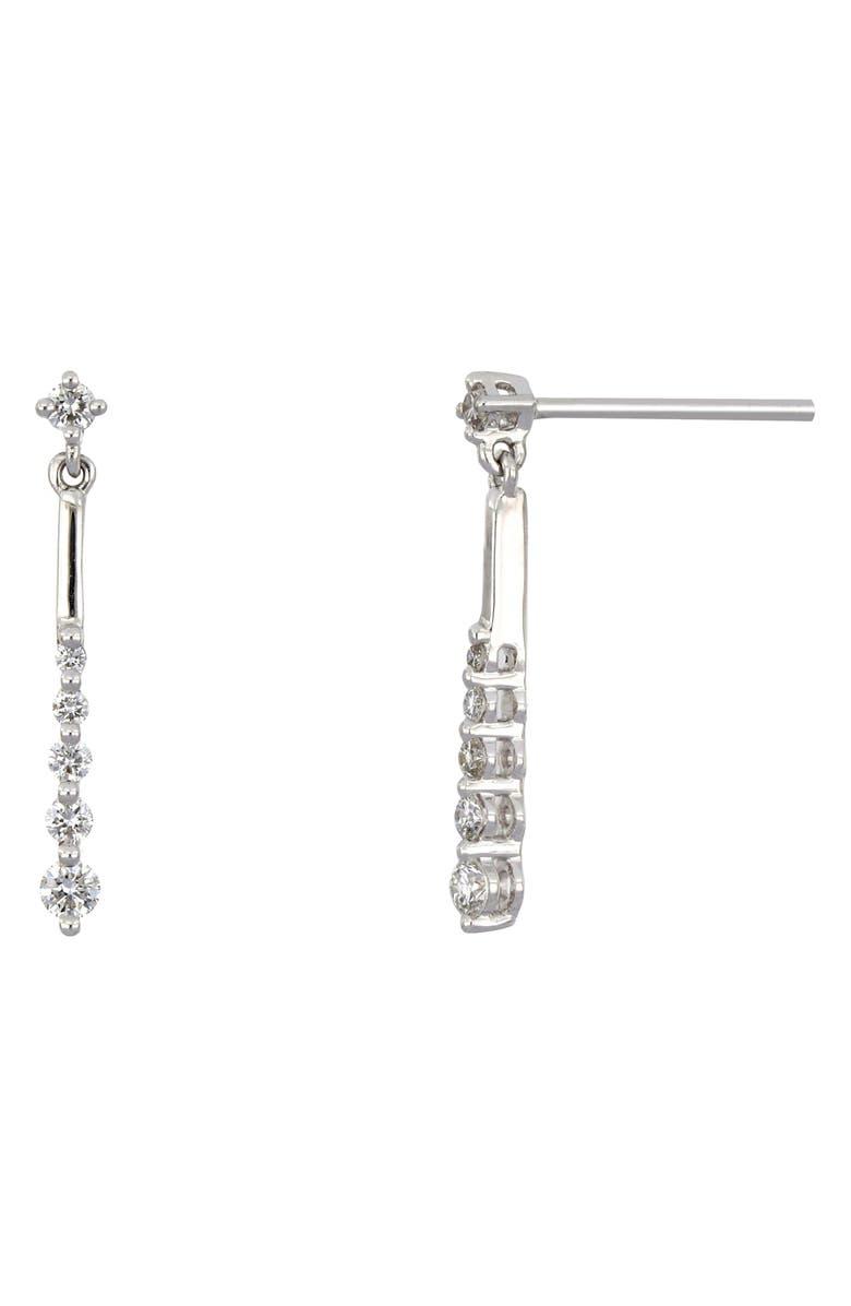 BONY LEVY Linear Diamond Earrings, Main, color, WHITE GOLD/ DIAMOND