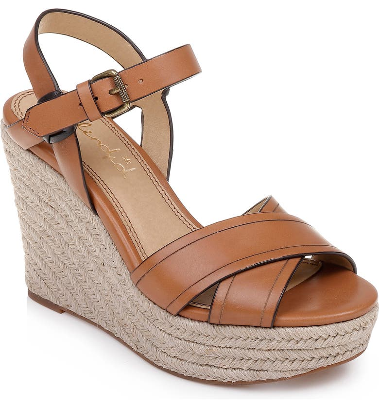 SPLENDID Taffeta Espadrille Wedge Sandal, Main, color, BRICK LEATHER