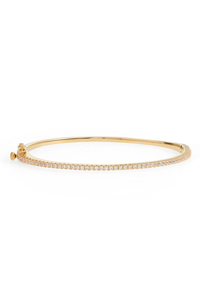 NORDSTROM Delicate Cubic Zirconia Bangle, Main, color, CLEAR- GOLD