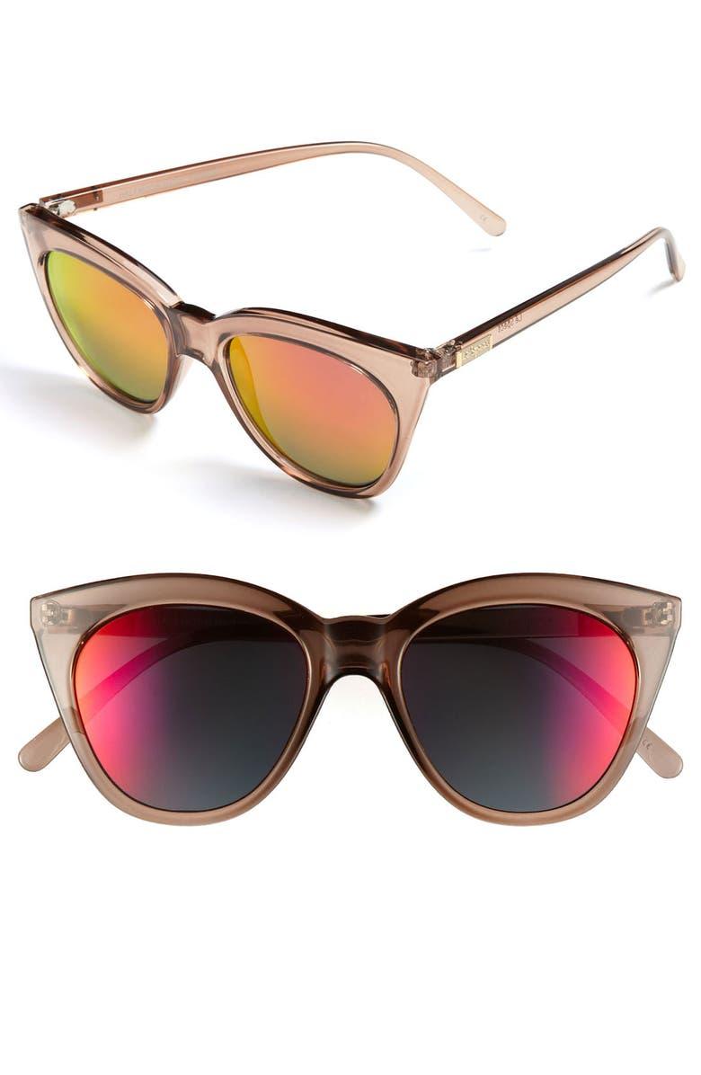 LE SPECS 'Halfmoon Magic' 53mm Sunglasses, Main, color, 200