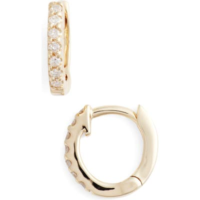 Dana Rebecca Designs Mini Diamond Huggie Hoop Earrings